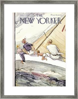 New Yorker August 15th, 1942 Framed Print by Perry Barlow