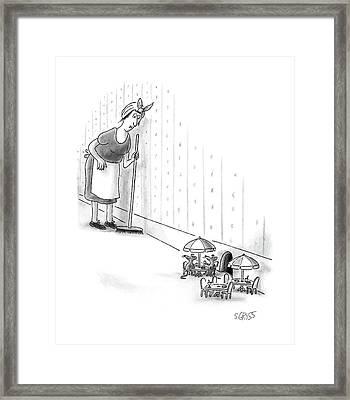 New Yorker August 15th, 1988 Framed Print by Sam Gross