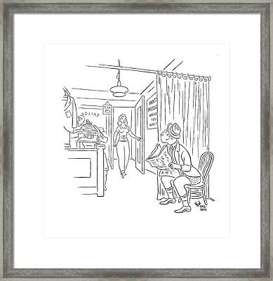 New Yorker August 16th, 1941 Framed Print by Ned Hilton