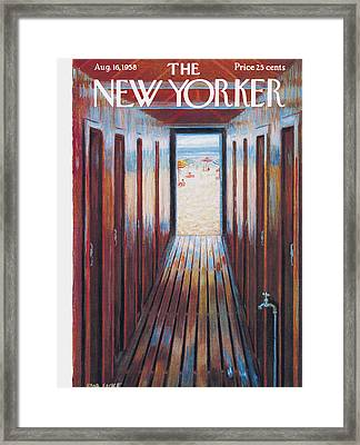 New Yorker August 16th, 1958 Framed Print by Edna Eicke
