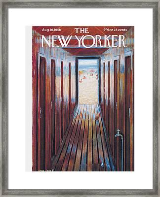 New Yorker August 16th, 1958 Framed Print by Edna Eicke