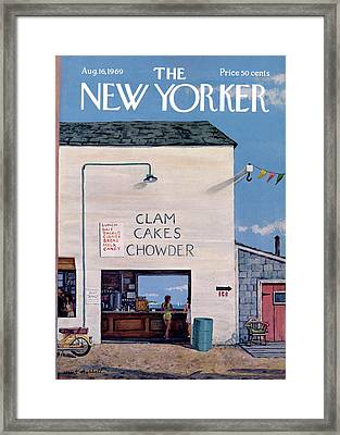 New Yorker August 16th, 1969 Framed Print by Albert Hubbell