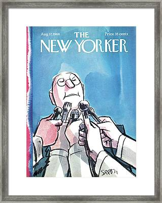New Yorker August 17th, 1968 Framed Print by Charles Saxon