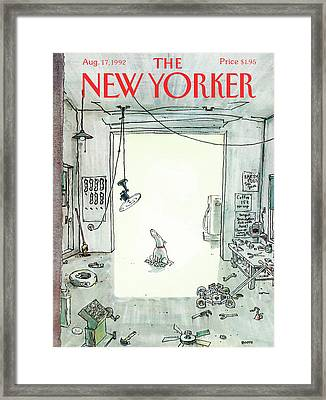 New Yorker August 17th, 1992 Framed Print by George Booth
