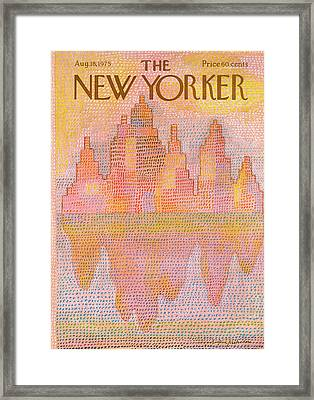New Yorker August 18th, 1975 Framed Print