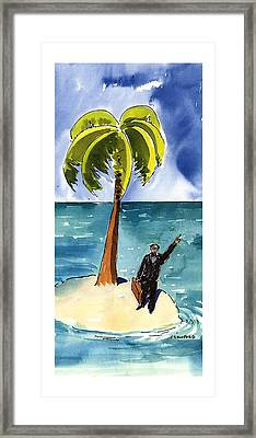 New Yorker August 19th, 1996 Framed Print by Michael Crawford