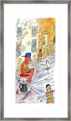 New Yorker August 19th, 1996 Framed Print by Michael Maslin