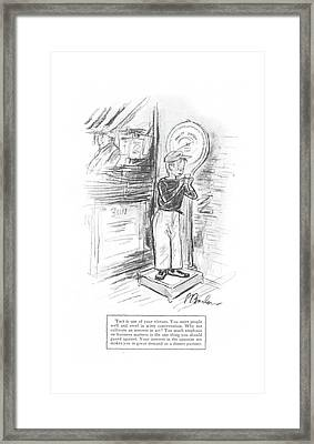 New Yorker August 1st, 1942 Framed Print by Perry Barlow