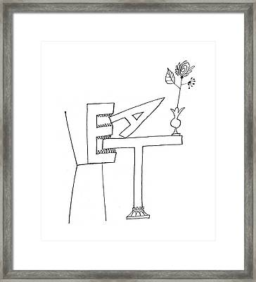 New Yorker August 20th, 1960 Framed Print by Saul Steinberg