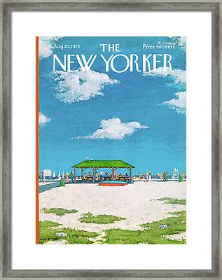 New Yorker August 20th, 1973 Framed Print by Albert Hubbell