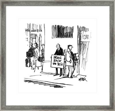 New Yorker August 20th, 1990 Framed Print by Robert Webe