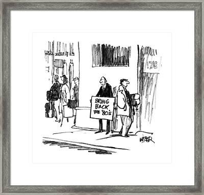 New Yorker August 20th, 1990 Framed Print