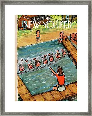 New Yorker August 21st, 1954 Framed Print by Abe Birnbaum