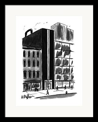 Urban Buildings Drawings Framed Prints