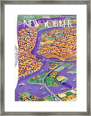 New Yorker August 22nd, 1936 Framed Print