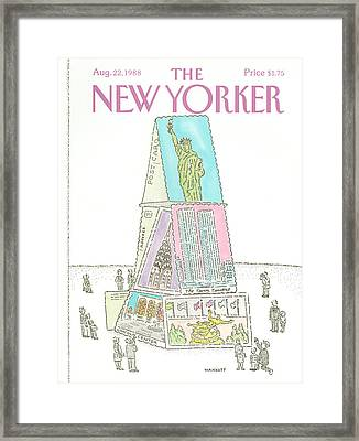 New Yorker August 22nd, 1988 Framed Print by Robert Mankoff