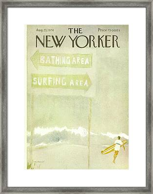 New Yorker August 23rd, 1976 Framed Print by James Stevenson