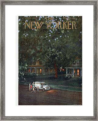 New Yorker August 24th, 1957 Framed Print by Edna Eicke