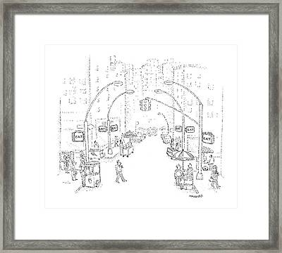 New Yorker August 24th, 1981 Framed Print by Robert Mankoff