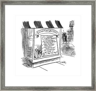 New Yorker August 24th, 1987 Framed Print by Donald Reilly