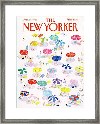 New Yorker August 24th, 1987 Framed Print by Susan Davis
