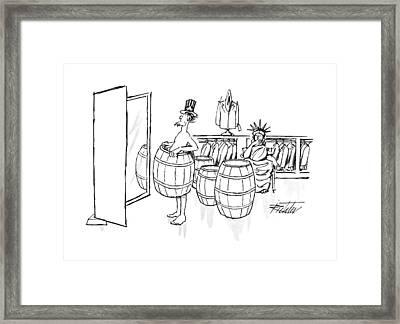 New Yorker August 24th, 1992 Framed Print by Mischa Richter