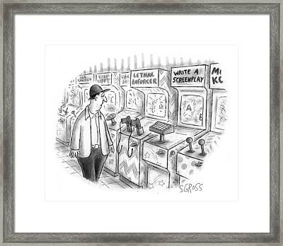 New Yorker August 24th, 1998 Framed Print by Sam Gross