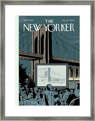 New Yorker August 24th, 2009 Framed Print by Adrian Tomine