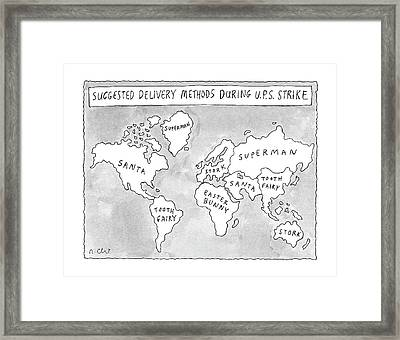 New Yorker August 25th, 1997 Framed Print by Roz Chast