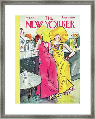 New Yorker August 26th, 1933 Framed Print by Perry Barlow