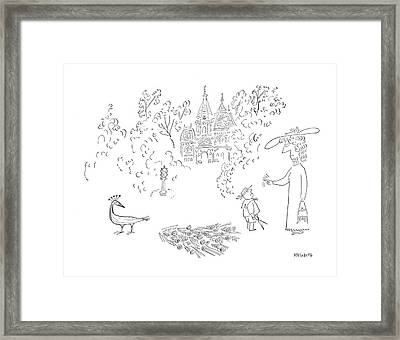 New Yorker August 26th, 1950 Framed Print by Saul Steinberg