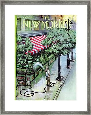 New Yorker August 27th, 1955 Framed Print by Arthur Getz