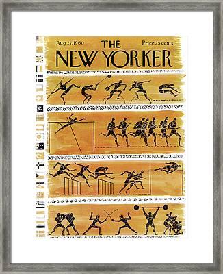 New Yorker August 27th, 1960 Framed Print