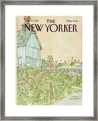New Yorker August 27th, 1984 Framed Print by James Stevenson