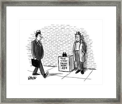 New Yorker August 27th, 1990 Framed Print