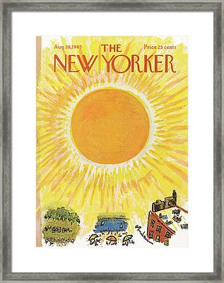 New Yorker August 28th, 1965 Framed Print