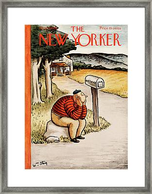 New Yorker August 29th, 1936 Framed Print by William Steig