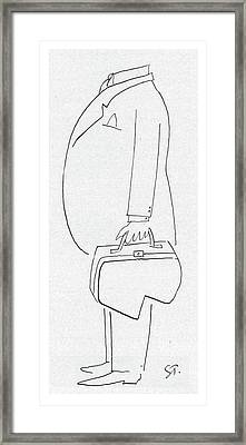 New Yorker August 29th, 1953 Framed Print by Saul Steinberg
