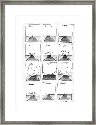 New Yorker August 29th, 1988 Framed Print by Roz Chast