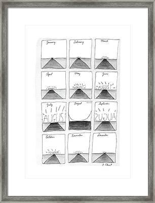 New Yorker August 29th, 1988 Framed Print