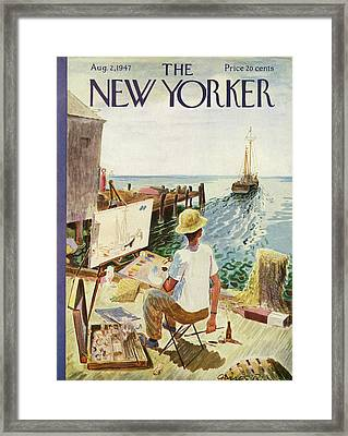 New Yorker August 2nd, 1947 Framed Print