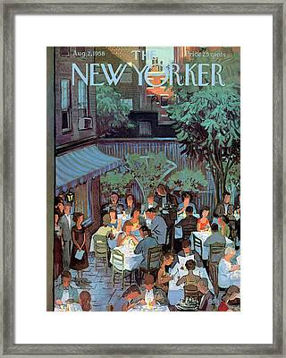 New Yorker August 2nd, 1958 Framed Print by Arthur Getz