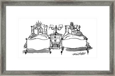 New Yorker August 2nd, 1993 Framed Print by Mischa Richter