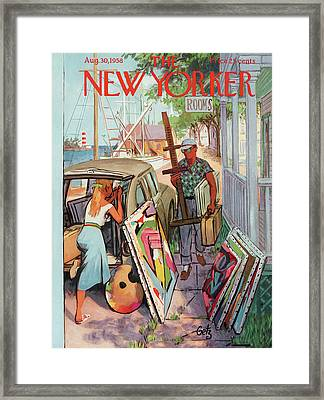 New Yorker August 30th, 1958 Framed Print by Arthur Getz