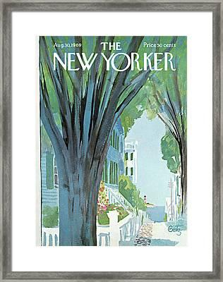 New Yorker August 30th, 1969 Framed Print by Arthur Getz