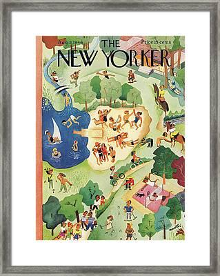 New Yorker August 31st, 1946 Framed Print by Charles E. Martin