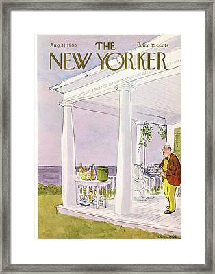 New Yorker August 31st, 1968 Framed Print by James Stevenson