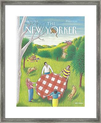 New Yorker August 31st, 1992 Framed Print by Bob Knox