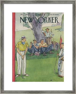 New Yorker August 3rd, 1946 Framed Print by Perry Barlow