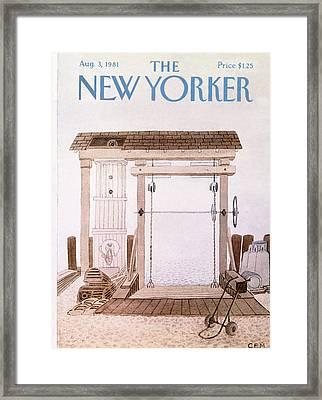 New Yorker August 3rd, 1981 Framed Print by Charles E. Martin